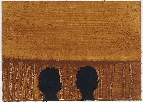 peinture: Anthony Gormley - vision  1989