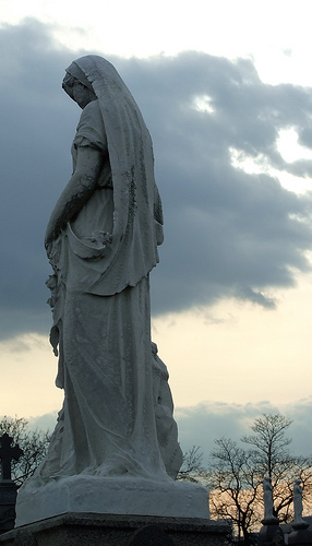 Statue of a Mourner in Calvary