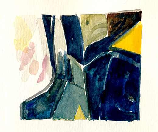 aquarelle perso -  d'après  une peinture de plus grand format