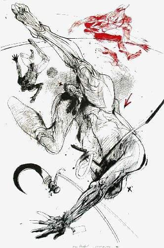 dessin: V Velickovic; la serpe  1996