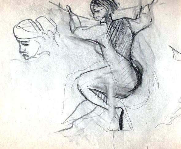 dessin perso  d'après  Michel-Ange