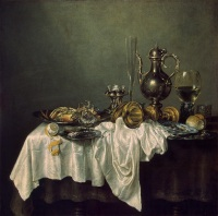 Heda, Willem Claesz Breakfast with a lobster, 1648,Eremitag
