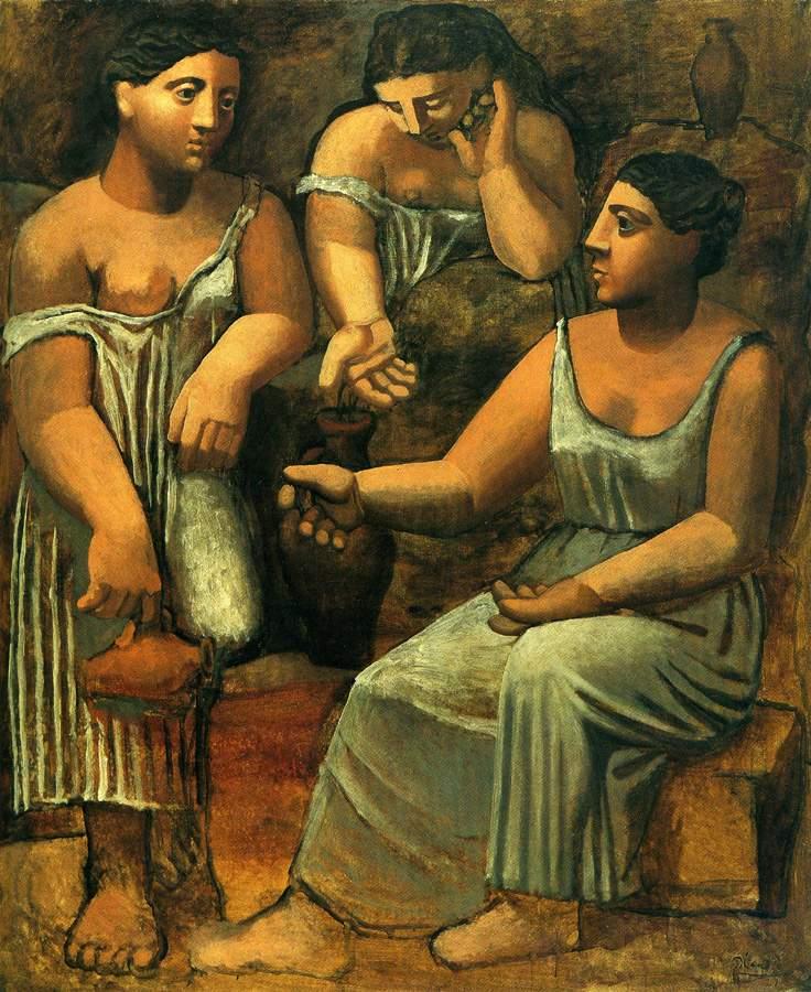 peinture: P Picasso:  trois femmes  au printemps  1921