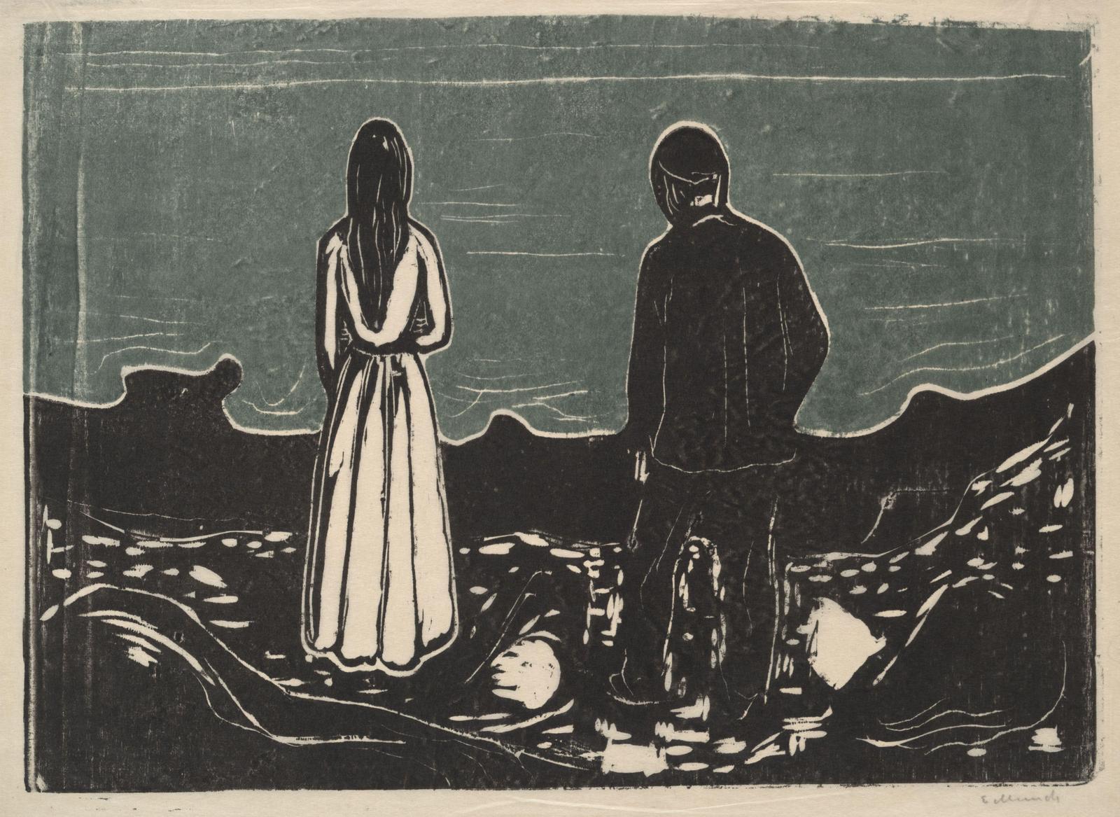 gravure:  Edward Munch