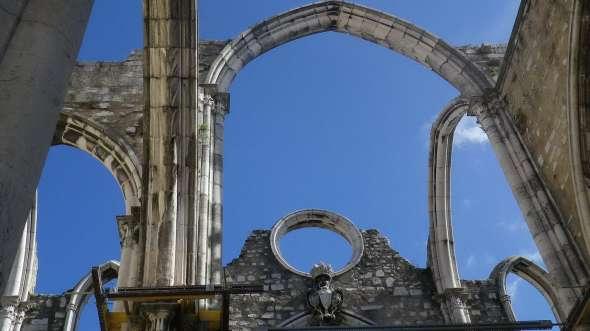 photo perso - Lisbonne,  église des Carmes