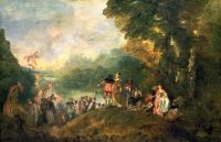 Watteau  Cythere  embarquement –4