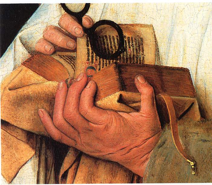 peinture : extrait d'une oeuvre  de Van Eyck