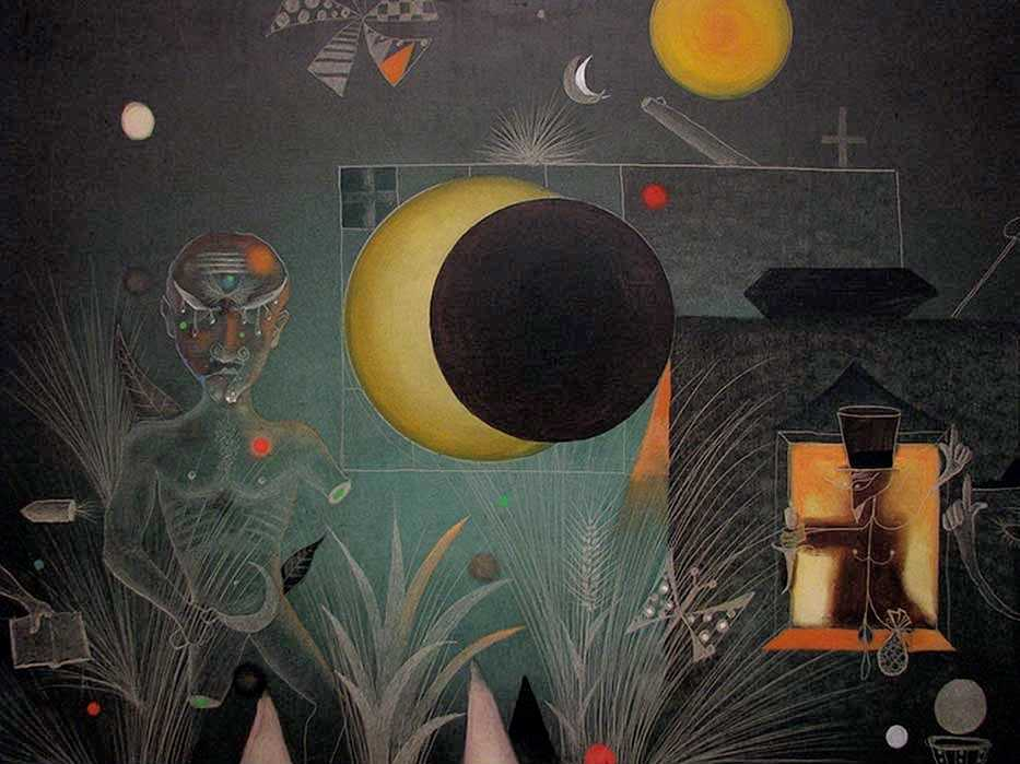 peinture Antoni Tapies_- 1951 Asia _Sao Paulo Museum of Modern Art, Brazil