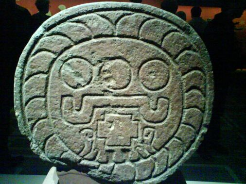 relief: disque  solaire aztèque ( Teotihuacan)