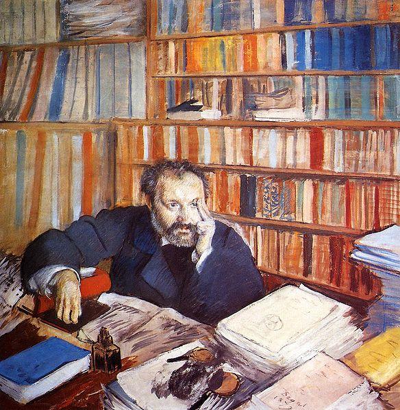 peinture: Edgard Degas  -  Portrait de Duranty