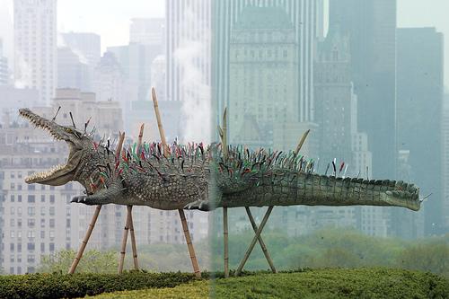sculpture-installation: Cai Guo-Quiag,  N Y