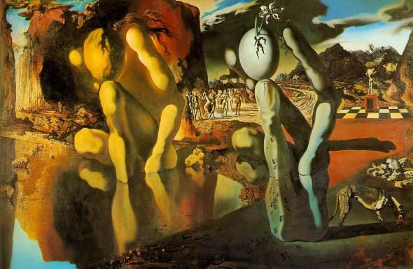 peinture: S Dali:  les  métamorphoses  de Narcisse    1937