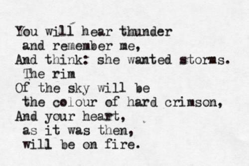Anna Akhmatova thunder