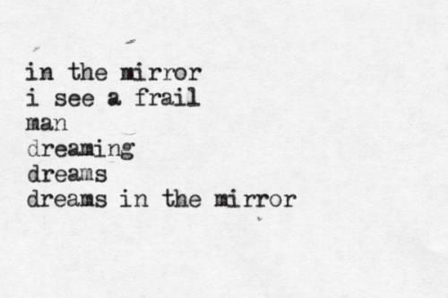 e.e. cummings in a mirror