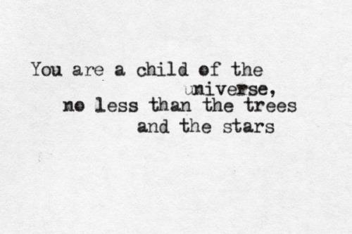 max Ehrmann child of the universe