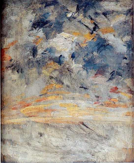 étude de ciel 1 27x22 mus Bx Arts Le Havre