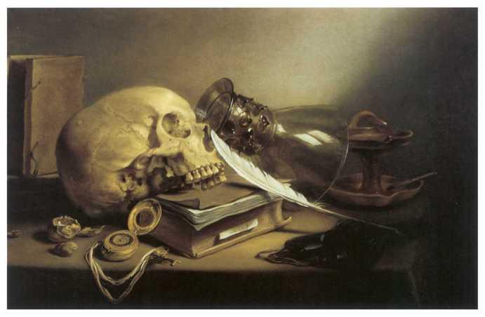 peinture: Pieter Claez - Vanité