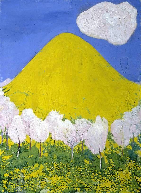 peinture Cuno Amiet - la colline jaune  1903