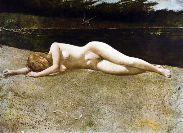 peinture: Andrew Wyeth - Black Water 1978