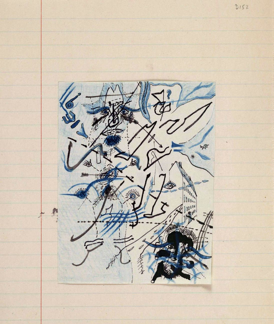 Georges Bataille -        Untitled drawing for Soleil Vitré