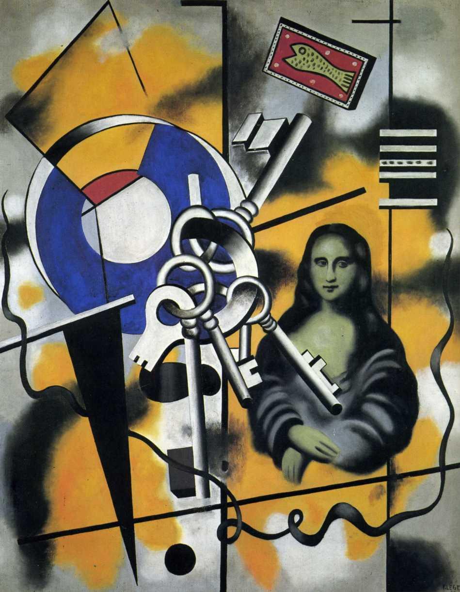 099-1930  la joconde aux cle¦üs mona lisa with the keys