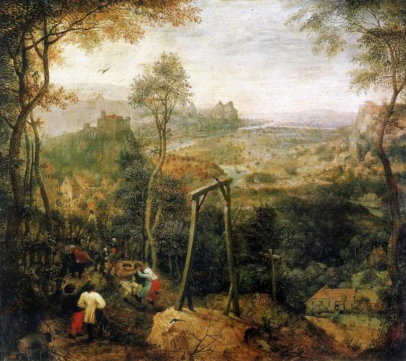 Bruegel          la pie et le gibet --.jpg
