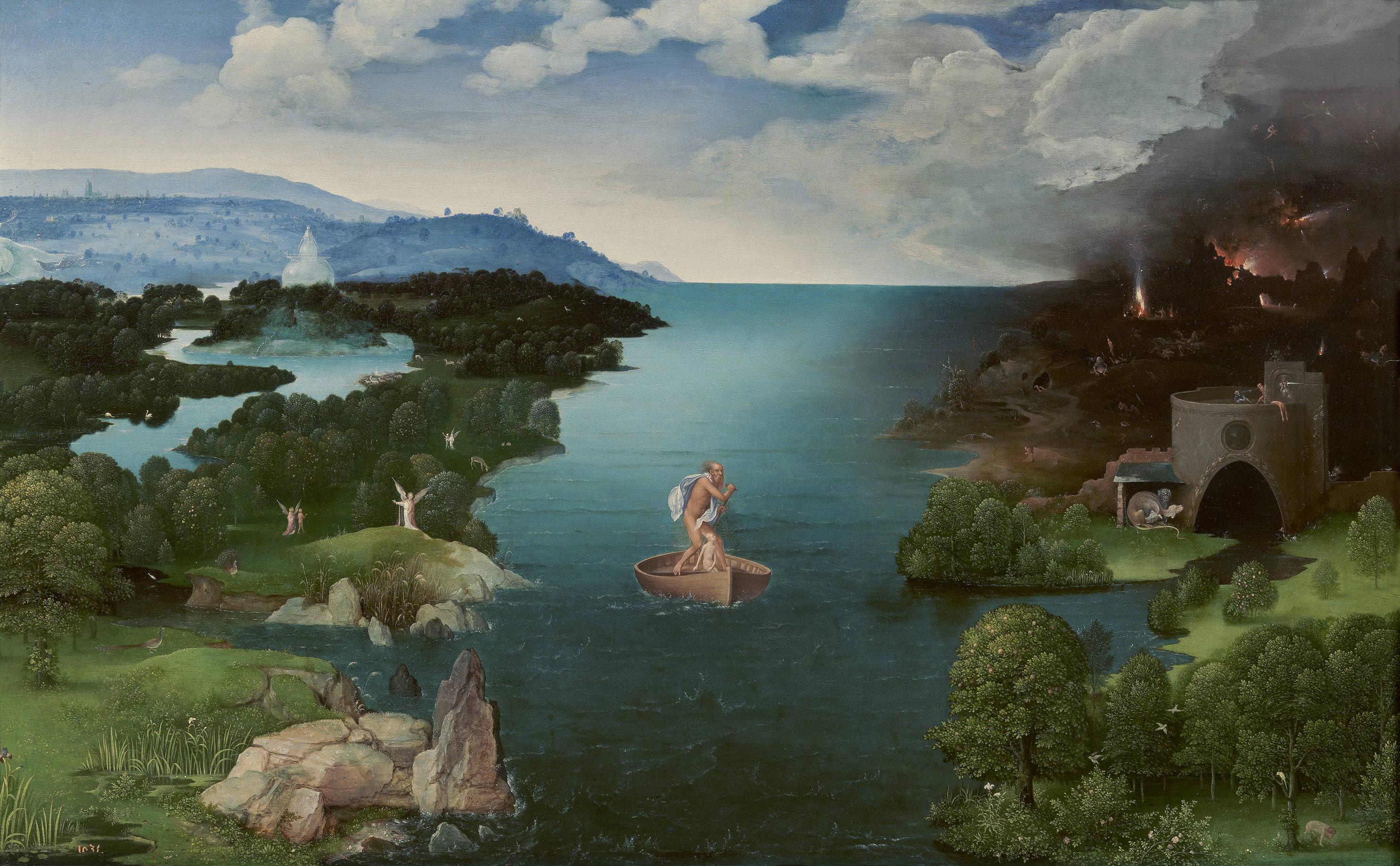 Joachim Patinir, Crossing the River Styx, 1515-24 14075791280.jpg