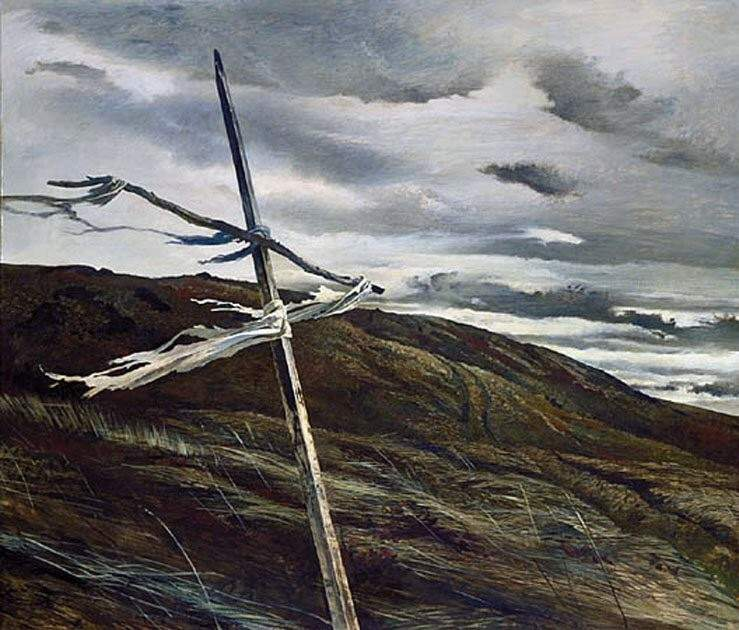 peinture: Adrew Wyeth Dodges Ridge