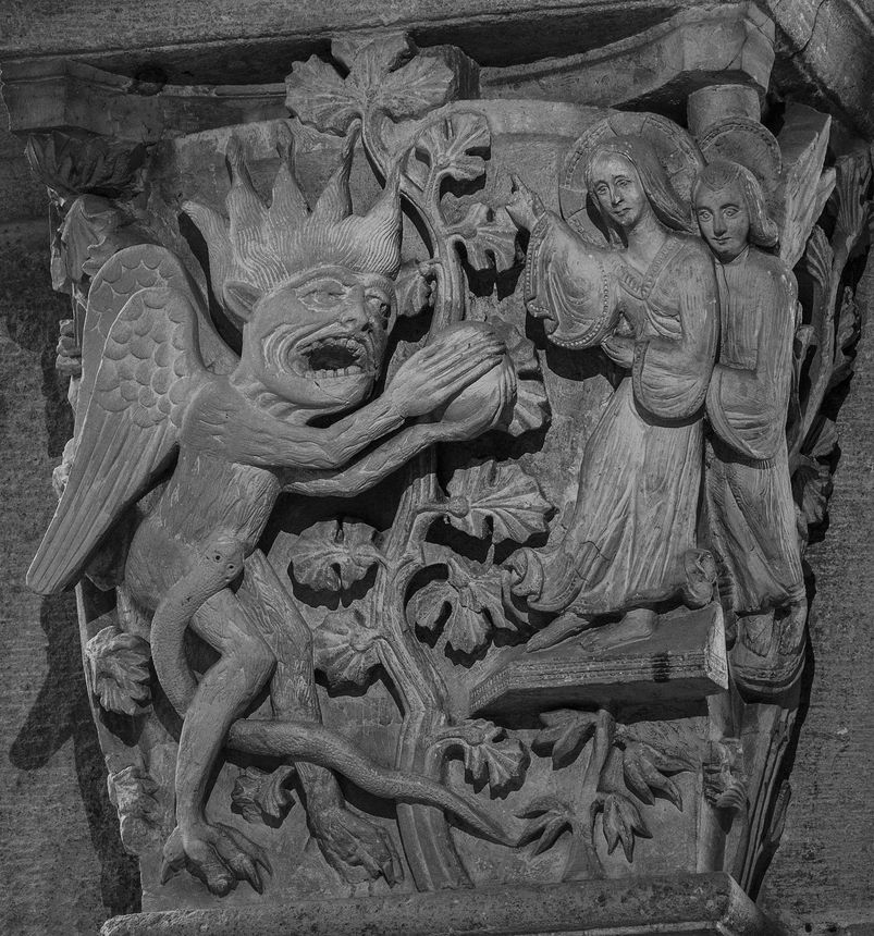 Autun Cathedral Choir Capital - The First Temptation of Christ 12265096776.jpg