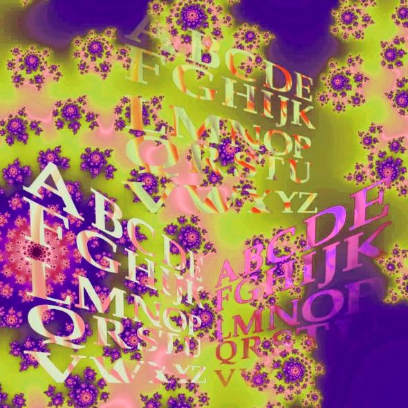 alphabets  3  sur fractale   vert fd & rosé  2.jpg