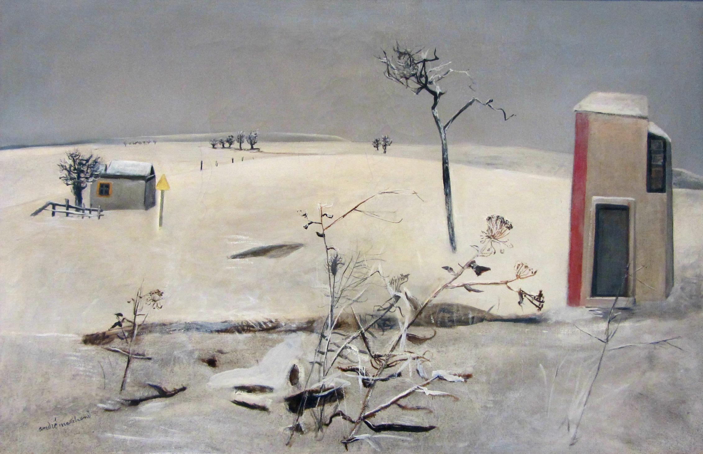 André Marchand, 1907-1997, Paysage de neige, 1940, musée des Beaux-Arts de Nancy 8415754243