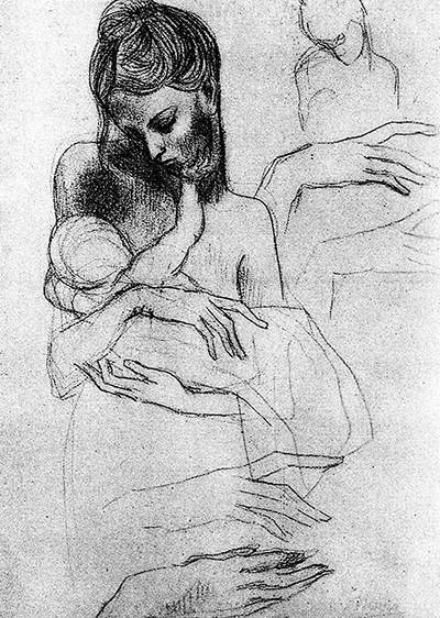 Mother and Child Study 1904 Pablo Picasso