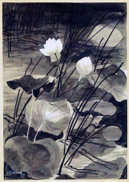 LE BA DANG LBD115-lotus-1953-encre-427x600