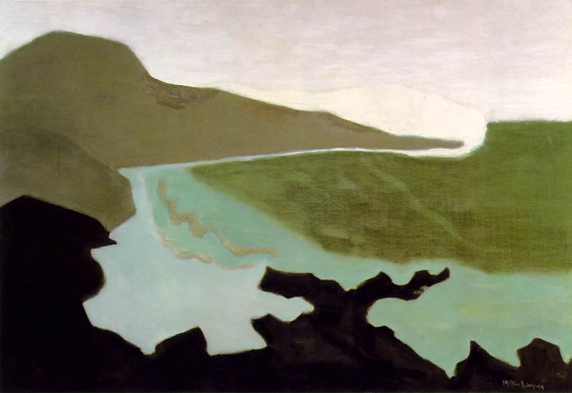 1954 Milton Avery (American artist, 1885-1965) Green Sea