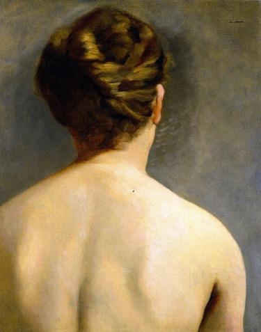 Éva Gonzalès (Artiste peintre impressionniste française, 1849 - 1883 ) Le chignon