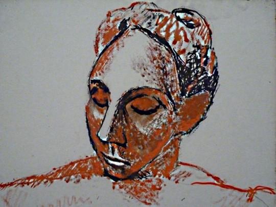PICASSO femme a la tete rouge