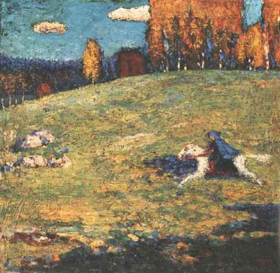 Kandinsky The blue rider, 1903, Ernst Bührle Collection, Zür