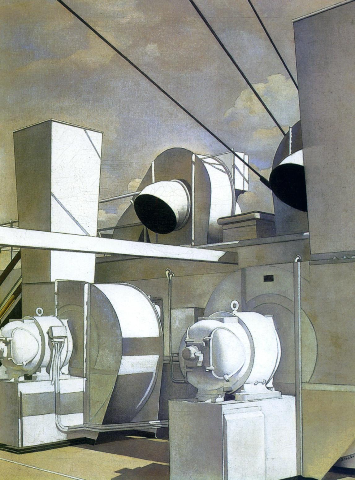 1929 Charles Sheeler Pont Supérieur Upper Deck