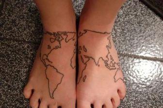 tattoo pieds monde