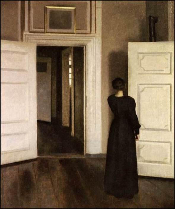 Intérieur au 30 Strandgase (1901) © Vilhelm Hammershoi