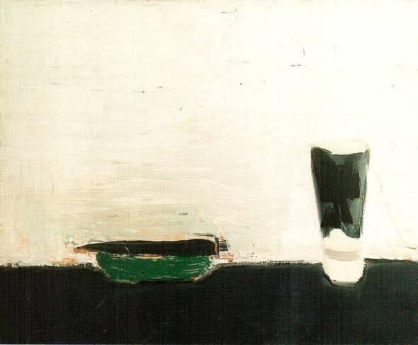 Nicolas de Stael. Nature morte au verre 1954 50x63