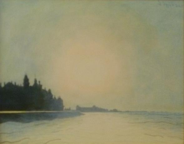 De zeedijk te Oostende, vaop het staketsel gezien 1910
