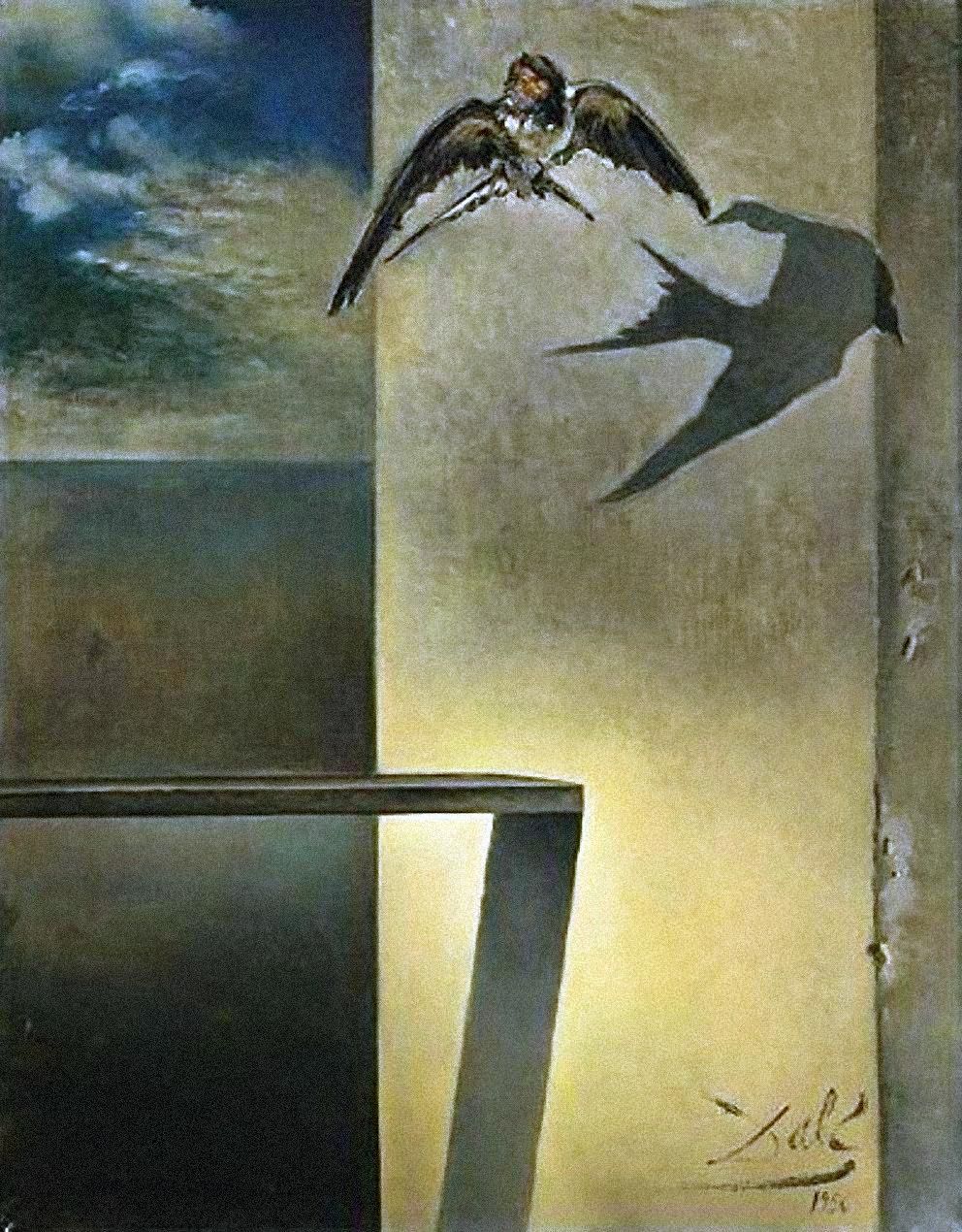 l'hirondelle immobile Salvador Dali